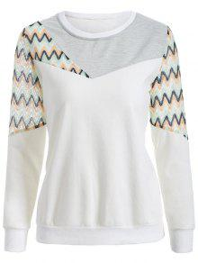 Buy See-Through Panelled Sweatshirt - WHITE XL