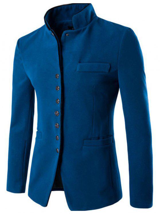 Blazer Cuello Alto Adelgazante Ajustado - Lago Azul L