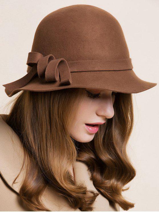Banda curvada sombrero cloche - Café