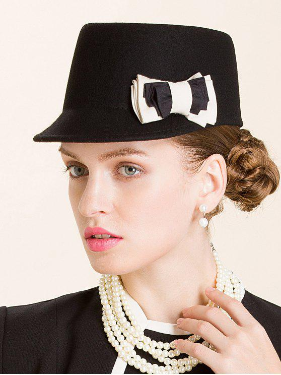 outfits Multilayered Bowknot Horsemanship Hat - BLACK