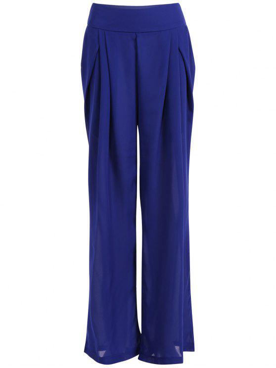 Pantalones gasa Culotte - Azul M