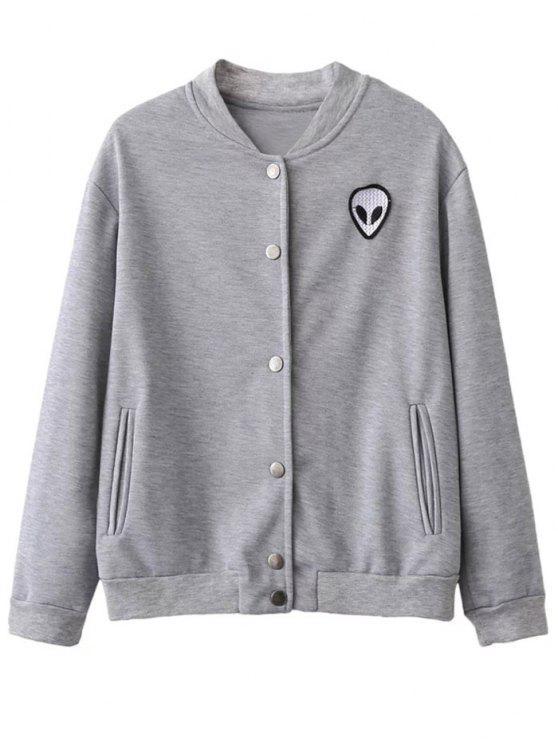 Extranjero de la chaqueta de beisbol - Gris Claro XL