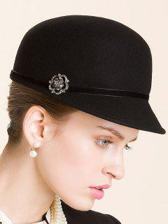 Rhinestone Lace-Up Horsemanship Hat - Black