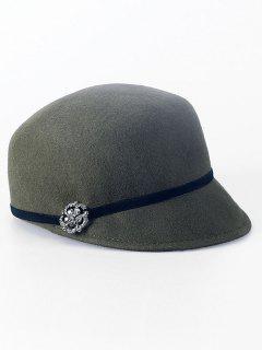 Rhinestone Lace-Up Horsemanship Hat - Army Green