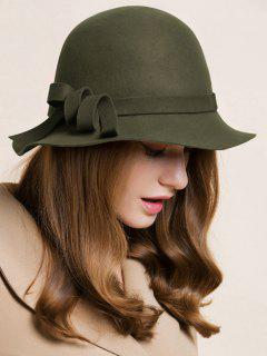 Curved Band Cloche Hat - Army Green