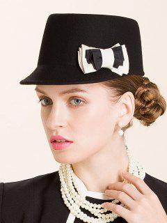 Multilayered Bowknot Horsemanship Hat - Black