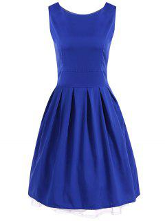 Vintage Ball Gown Swing Dress - Royal Blue 2xl
