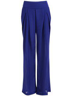 Chiffon Culotte Pants - Blue S