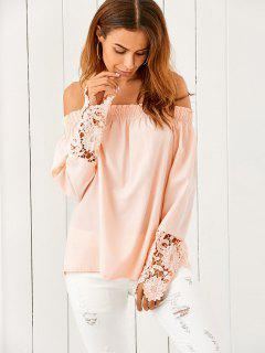 Off The Shoulder Loose Blouse - Nude Pink Xl