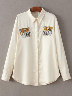 Tiger Embroidered Shirt - Off-white S