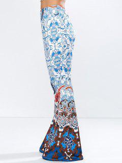 Pantalon évasé Taille Haute - Bleu S
