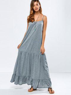 Una Línea Vestido Maxi Cami - Gris S