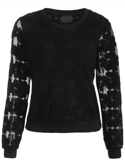Floquée Mesh Sweatshirt - Noir M Mobile