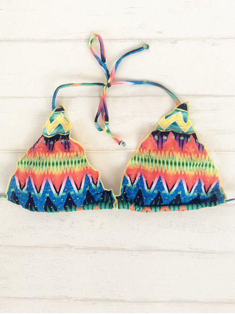Zig Zag Halter Bikini String - Multicolore L Mobile