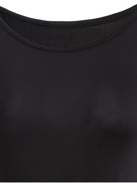 Scoop Neck T-shirt à rayures Jupe - Blanc et Noir M Mobile