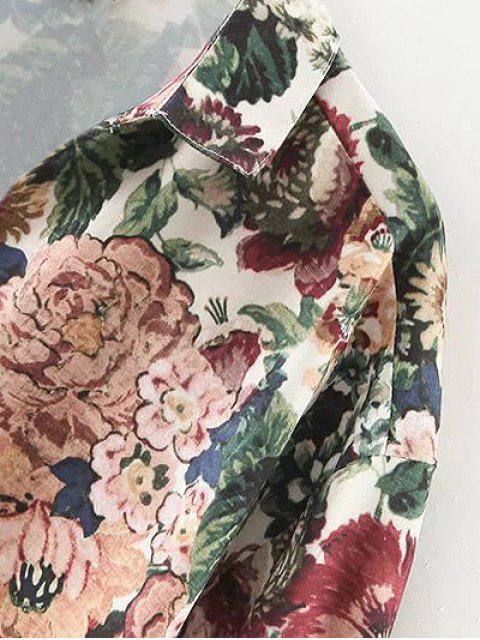 Chemisier vintage à motifs floraux - Vert M Mobile
