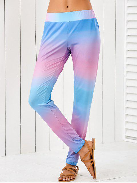 buy Ombre Mid Waist Leggings - MULTI S Mobile