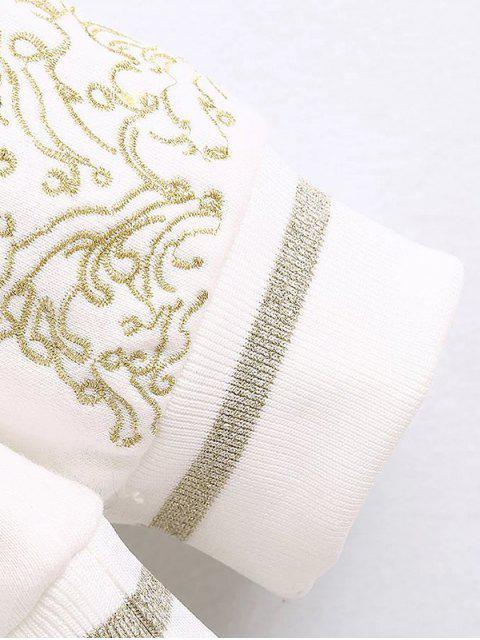 Chandail brodé Poisson - Blanc S Mobile