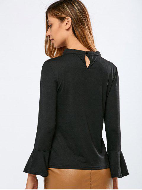 Veste à col V avec effet collier court - Noir M Mobile