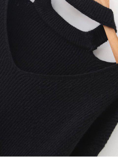 Pull tricot  ras-de-cou à manche longues avec fermetures à deux manches - RAL6011 Réséda Vert TAILLE MOYENNE Mobile