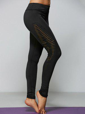 Ripped Tight Fit Sports Leggings