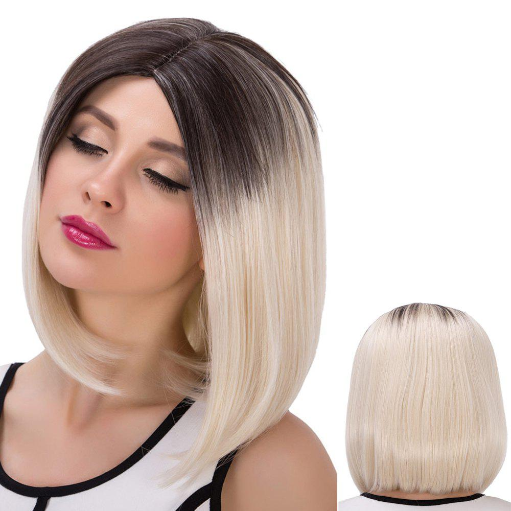 Medium Colormix Straight Centre Parting Synthetic Wig 196363201