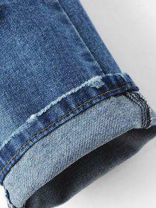 Enge zerrissene jeans mit schmalen f e denim blau jeans for Zerissene jeans herren
