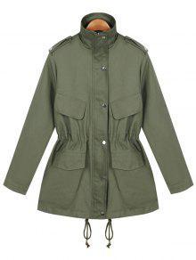 فضفاضة سلسلة معطف المساعدة - الجيش الأخضر