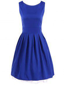 Vestido De Bola De La Vendimia Del Oscilación Del Vestido - Azul Royal S
