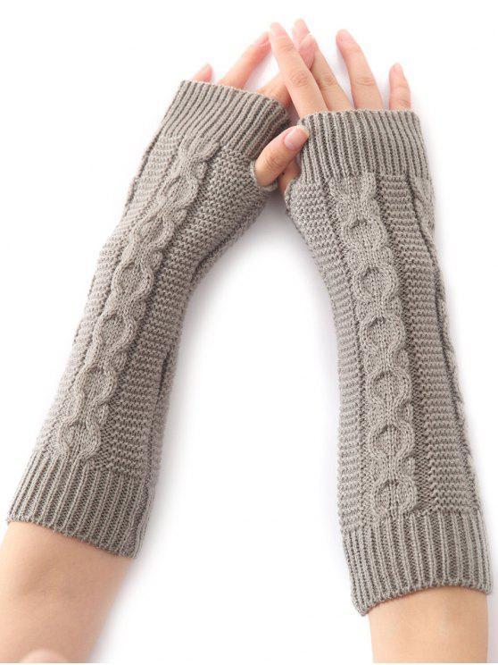 Hemp Decorative Pattern Christmas Crochet Knit Arm Warmers Light