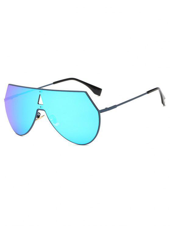 best Hollow Triangle Shield Mirror Sunglasses - ICE BLUE