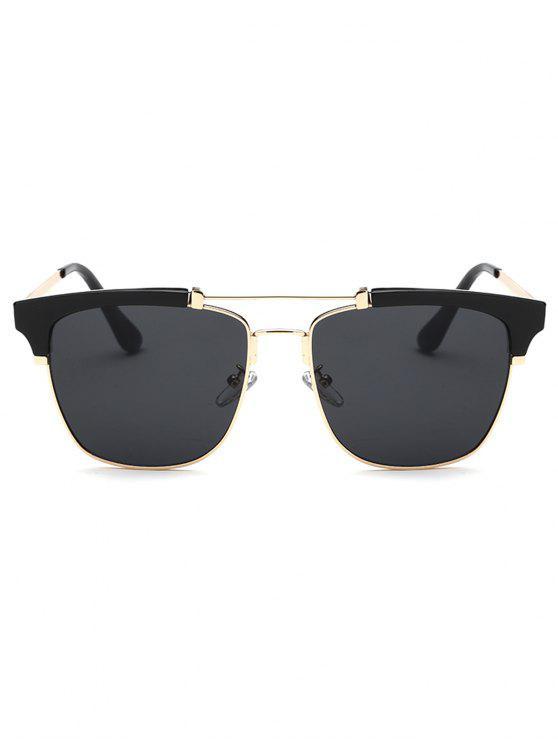 Gafas de sol de metal travesaño Marco de la mariposa - Negro