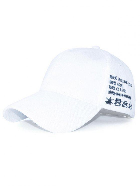 outfit Casual Sport Snapback Corduroy Baseball Hat - WHITE