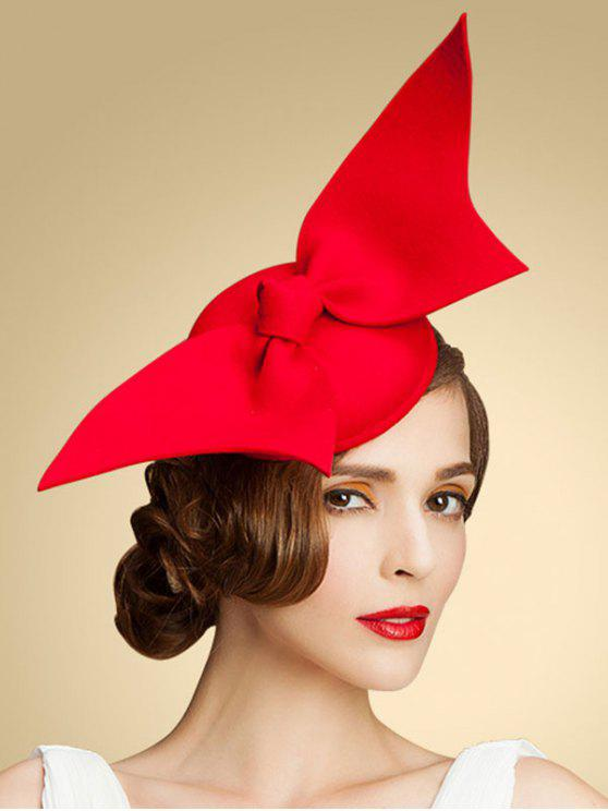 Papillon Knot Cocktail Hat - Rouge