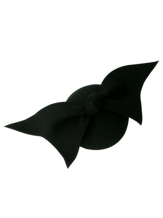 fancy Butterfly Knot Cocktail Hat - BLACK
