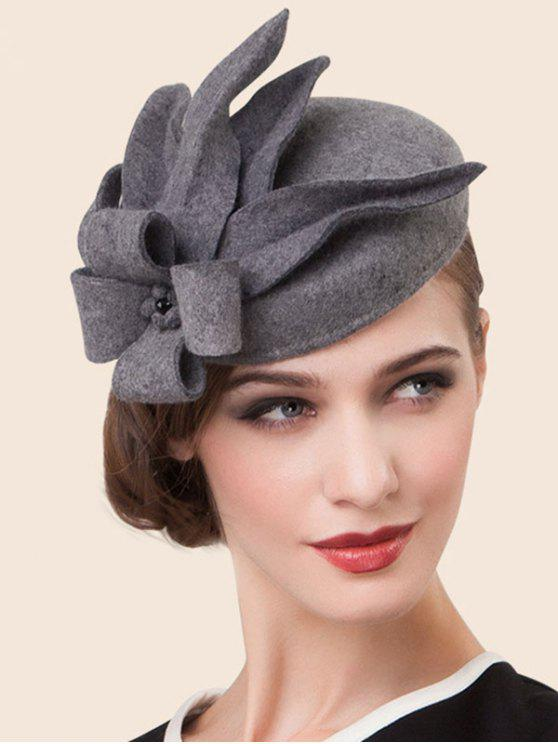 20% OFF  2019 Wool Flower Cocktail Hat In GRAY  09f32ece9df