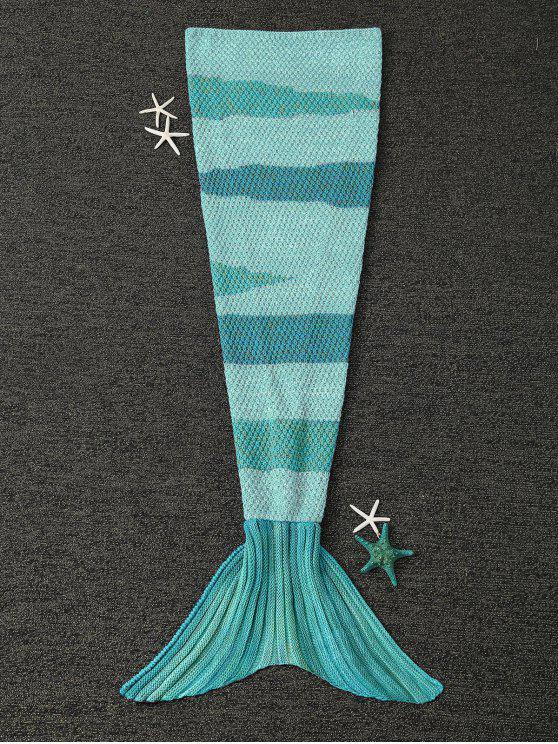 Tricoté Wrap enfants Mermaid Tail Blanket - Vert clair