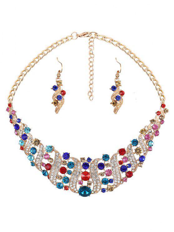 مجموعة مجوهرات حجر الراين الجوف خارج - Colormix