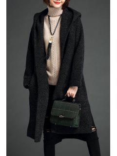 Manteau à Capuchon - Noir