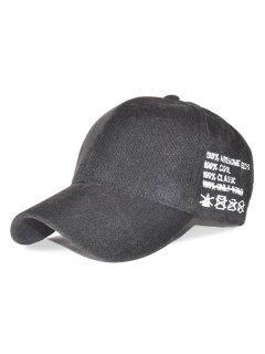 Casual Sport Snapback Corduroy Baseball Hat - Black
