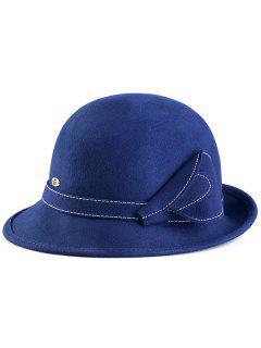 Calla Lily Wool Cloche Hat - Blue