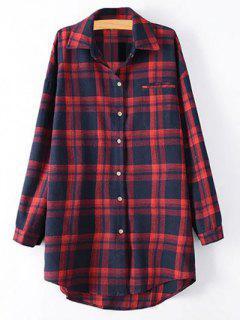 Chemise à Carreaux Grande Taille - Rouge 2xl
