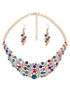 Rhinestoned Hollow Out Jewelry Set