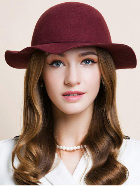 womens Bowknot Edge Dome Hat - WINE RED  Mobile