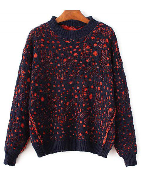 Pull-over ras du cou large - Bleu Cadette TAILLE MOYENNE Mobile