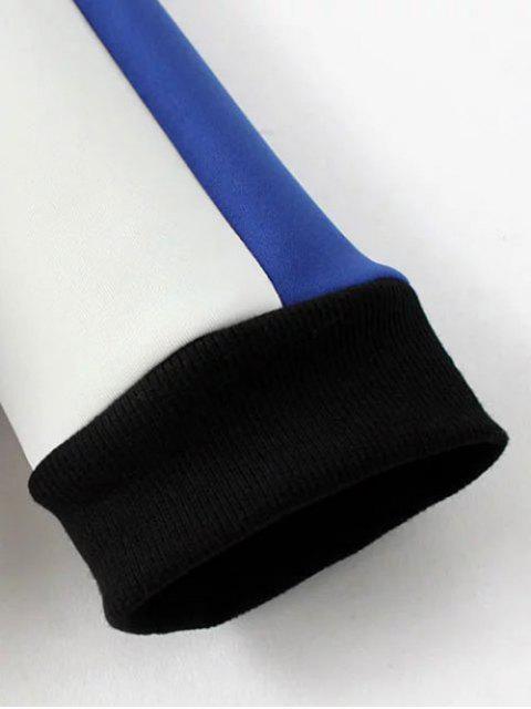 Sweat à blocs de couleur avec col rond imprimé astrochien - Bleu saphir TAILLE MOYENNE Mobile
