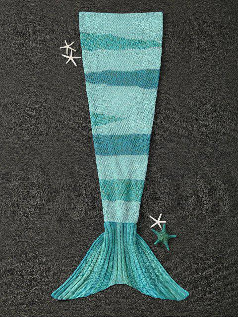 hot Knitted Wrap Kids Mermaid Tail Blanket -   Mobile
