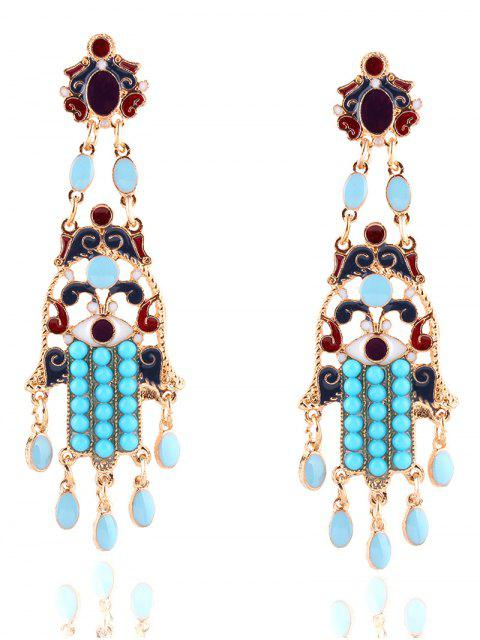 shops Bohemian Layered Oval Beads Earrings -   Mobile