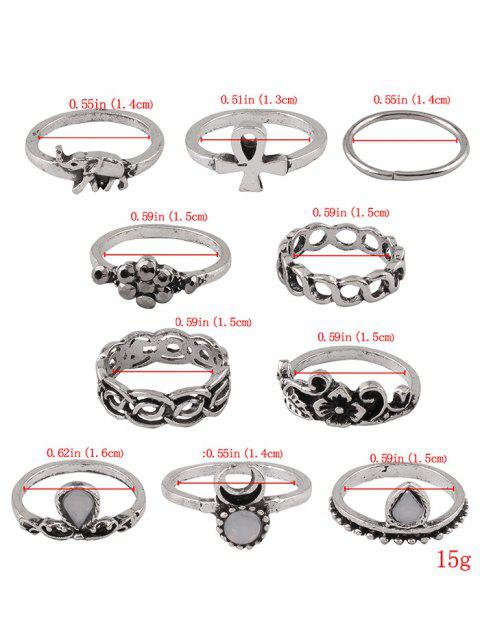 affordable Elephant Crucifix Flower Water Drop Rings -   Mobile