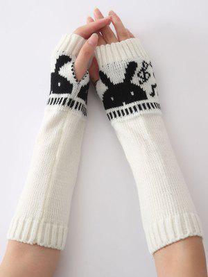 Mitaines longues chaudes tricotées tête de lapin, d'hiver de Noël,